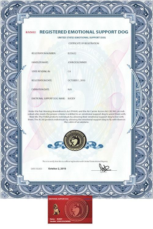 esa dog certificate p 2