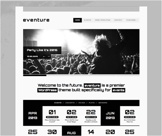 20 beautiful events production website templates themes