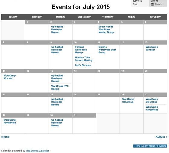 Event Calendar Website Template 8 Best event Calendar WordPress Plugins for Website
