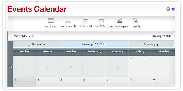 post website event calendar template 124675