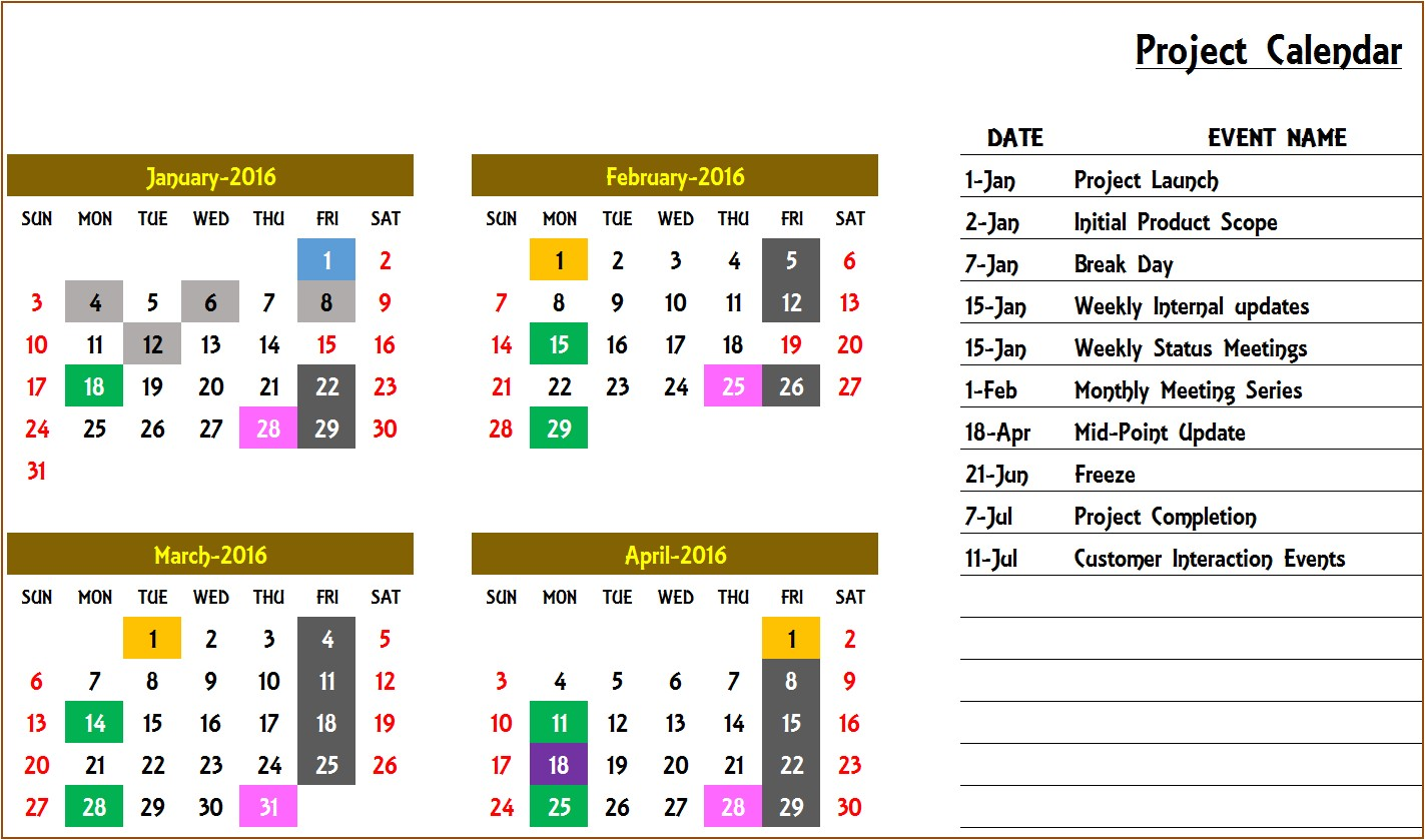 event calendar maker