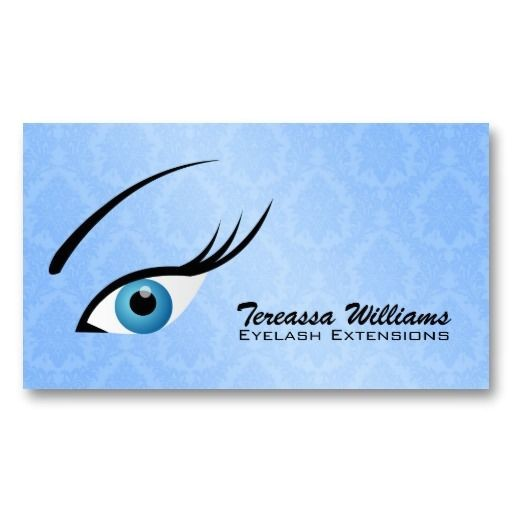 eyelash extension business cards