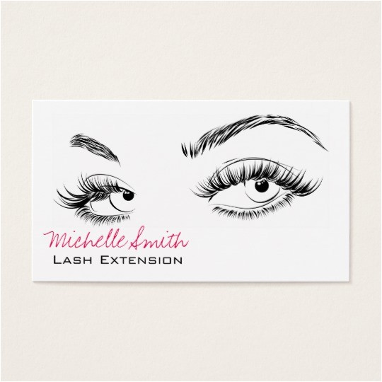 Eyelash Extension Gift Certificate Template Beautiful Eyes Long Lashes Lash Extension Business Card