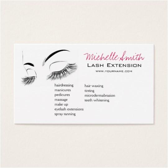 beautiful long eyelashes lash extension business card 240348803957945946