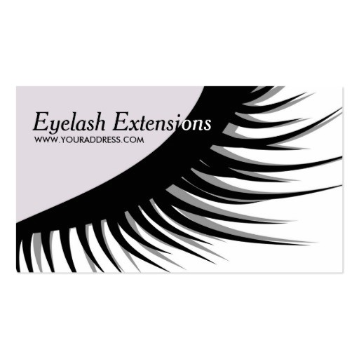 Eyelash Extension Gift Certificate Template Cute Eyelash Extensions Business Card Zazzle