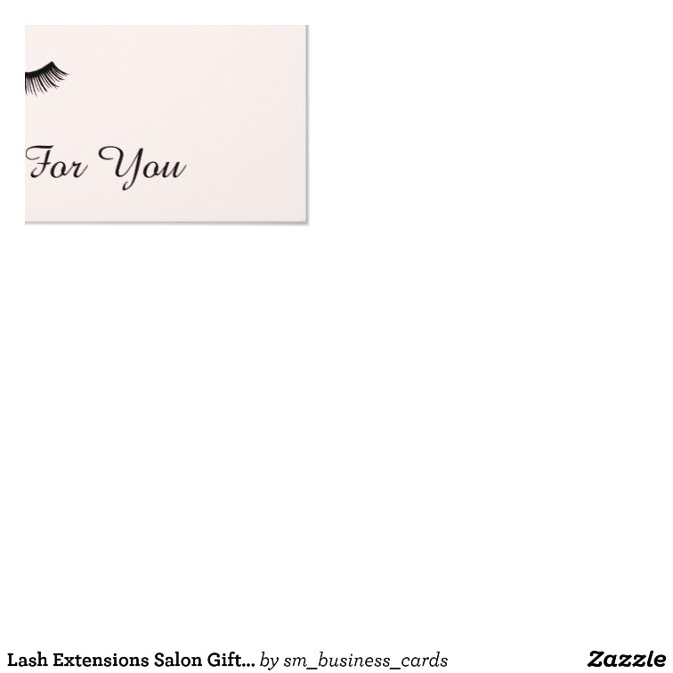 Eyelash Extension Gift Certificate Template Lash Extensions Salon Gift Certificate Card Zazzle