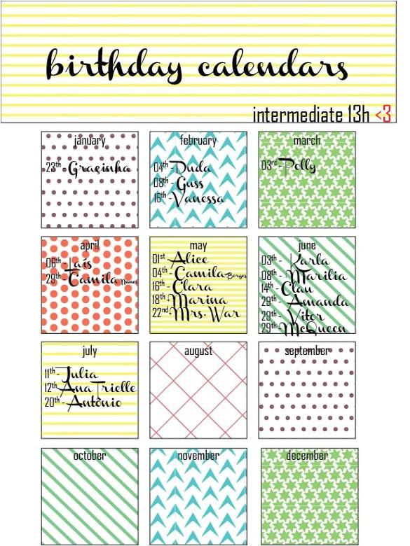 Family Birthday Calendar Template 21 Birthday Calendar Templates Free Sample Example