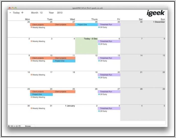 filemaker calendar 17456