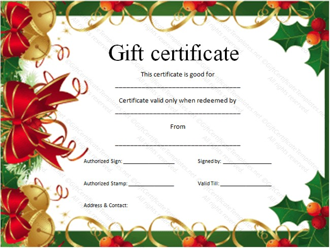 post gift certificate template free fill in 10563