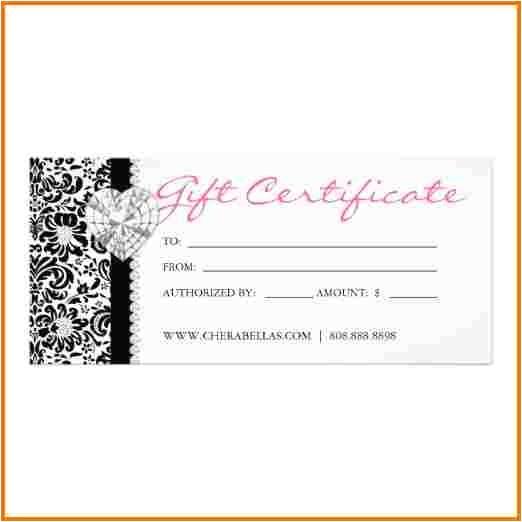 salon gift certificate template