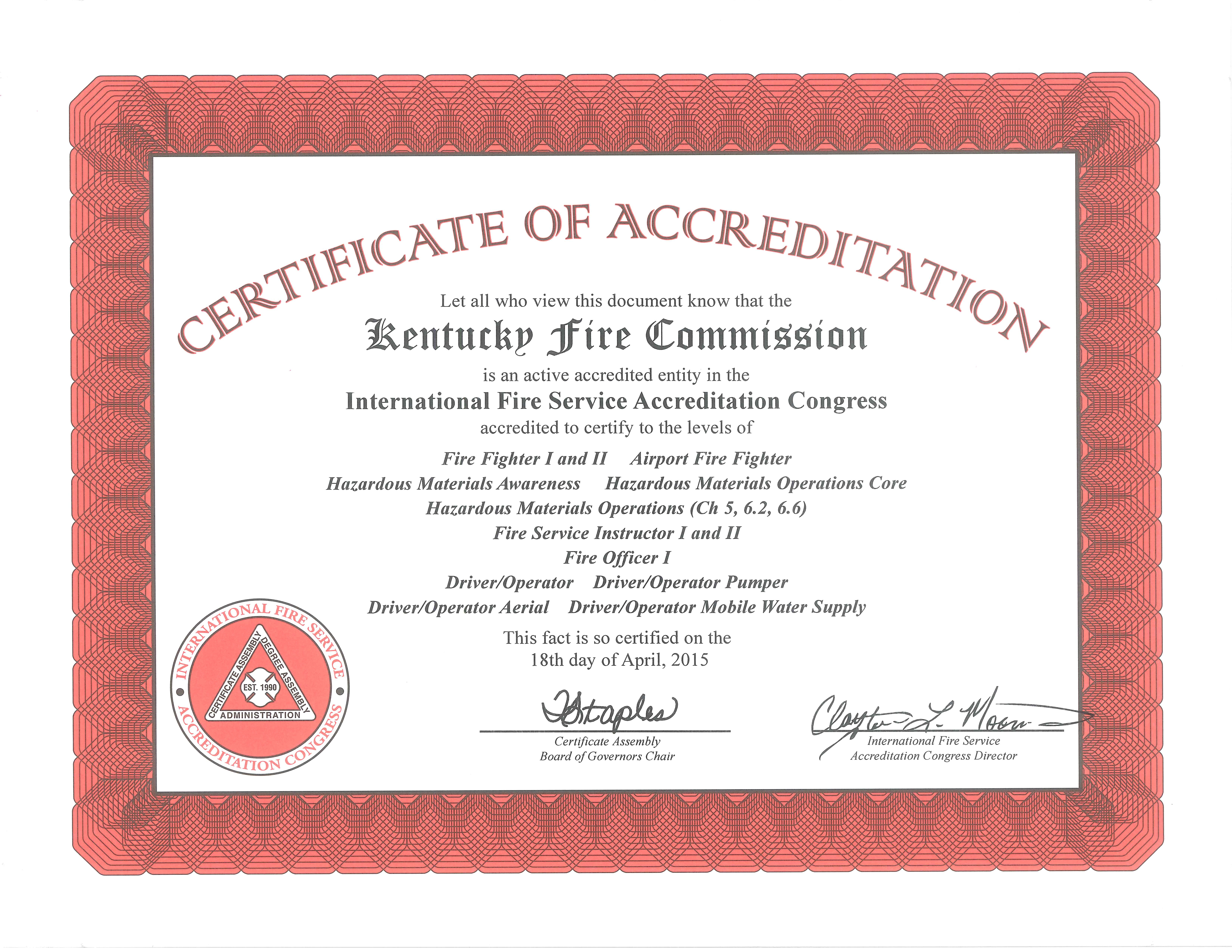 firefighter certification