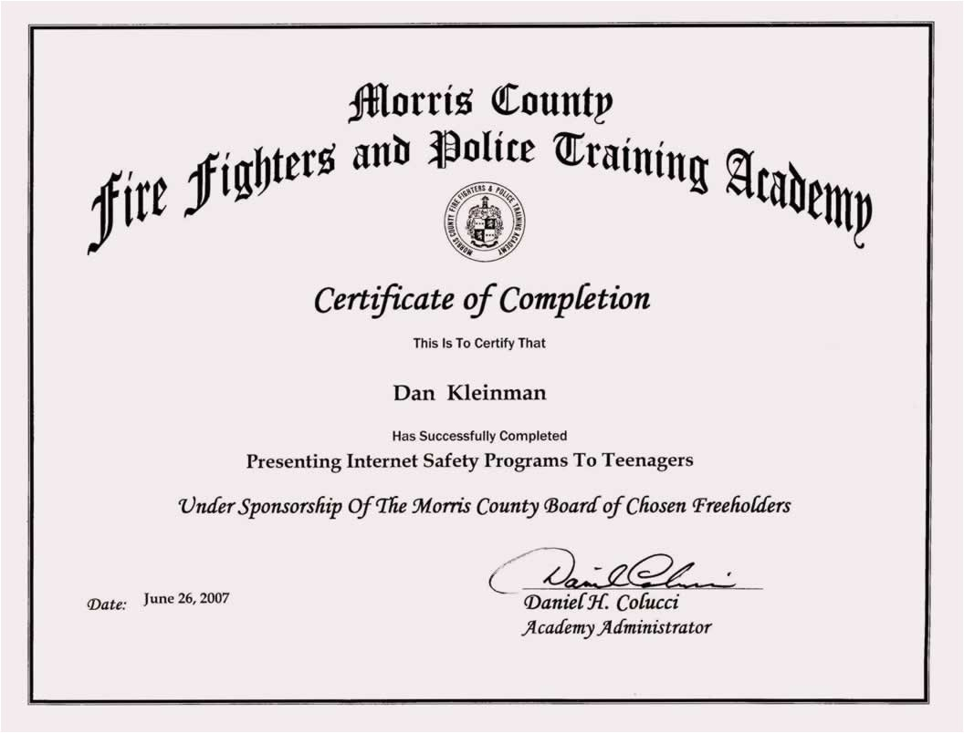 training certificate format doc 2836