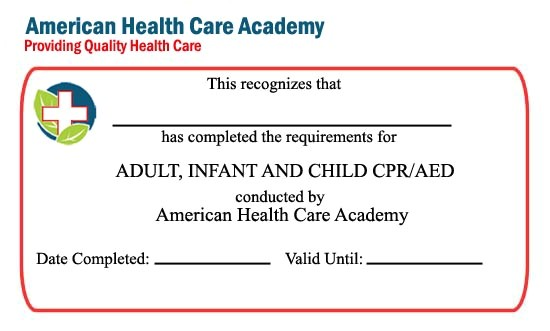 first aid certificate template blank cpr card