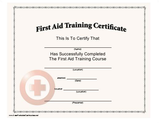 First Aid Certificate Template Free This Certificate with A Red Cross Seal Certifies the