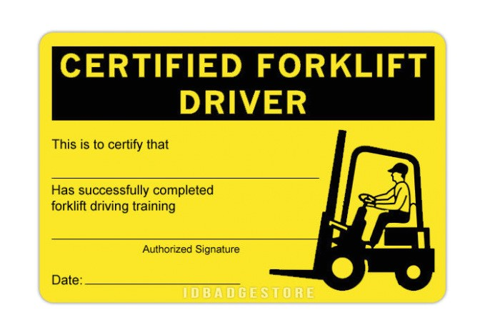 free forklift certification