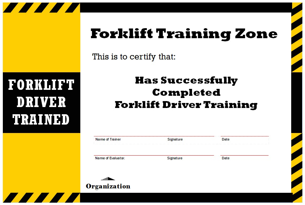 what do i need for a forklift operator license