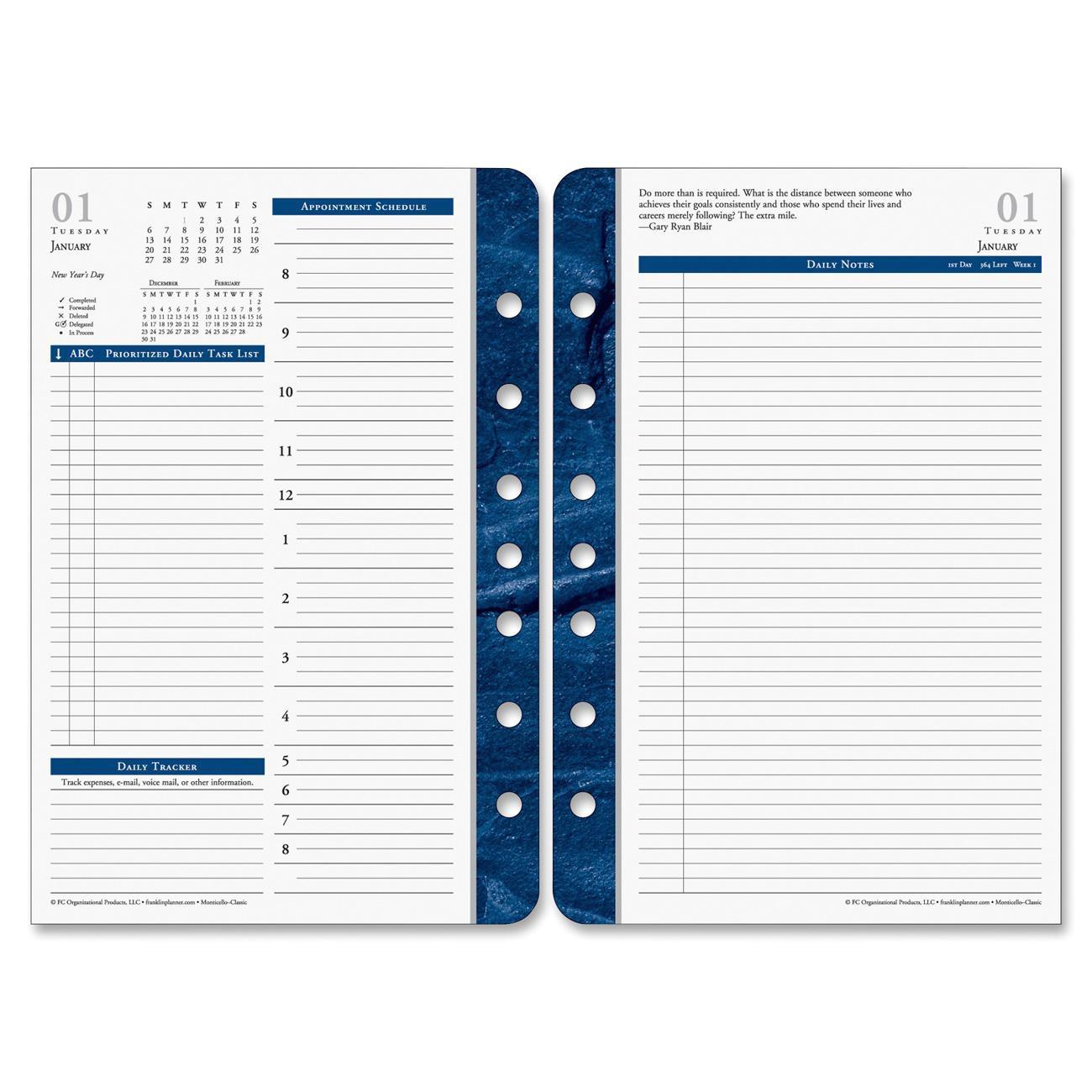 franklin covey fdp36229 classic monticello planner refill