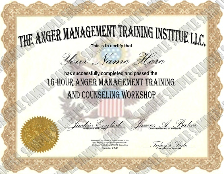 anger management 16 hour anger management class