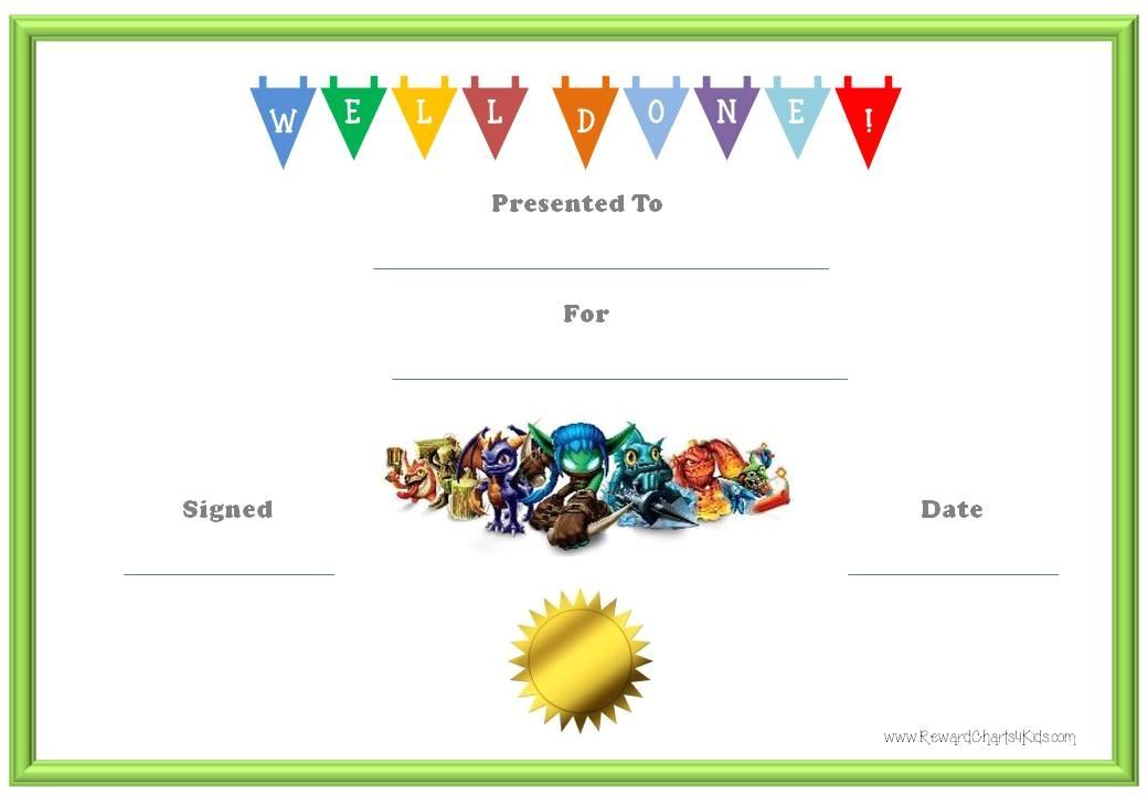 post reward for good behavior certificates 128110