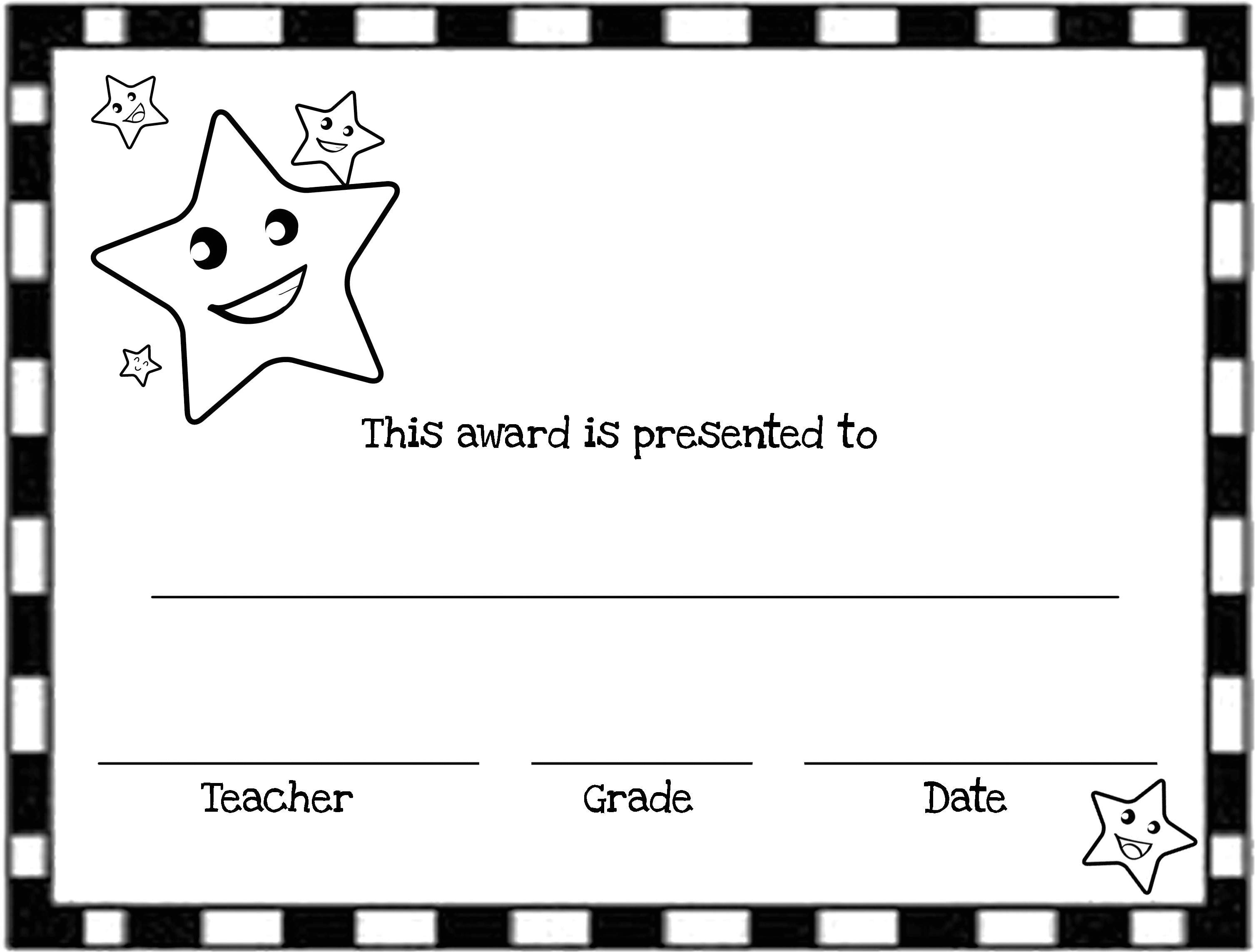 Free Award Certificate Templates for Students Free Printable Award Certificates for Elementary Students