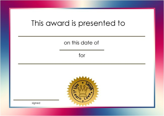 Free Award Certificate Templates for Students Student Certificate Awards Printable Certificate Templates