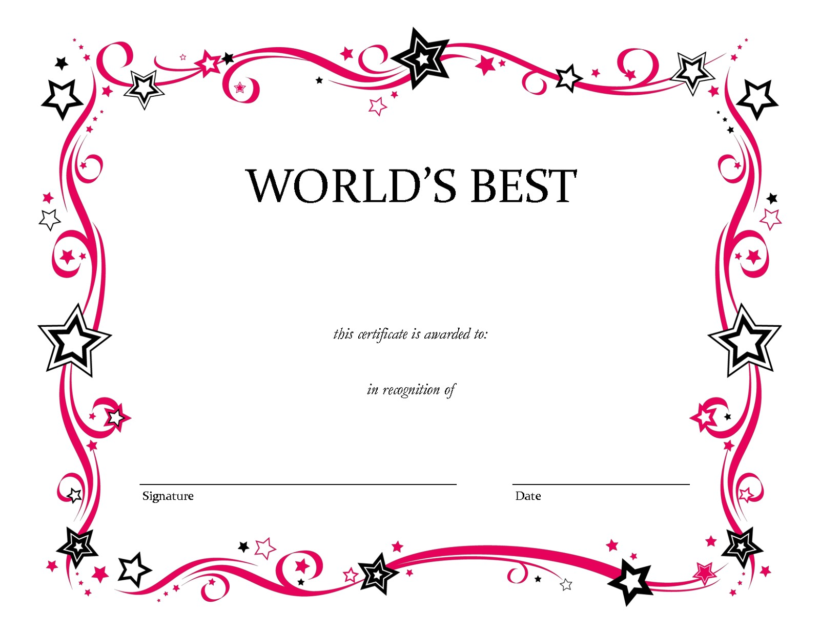Free Blank Certificate Templates Blank Certificate Templates to Print Activity Shelter