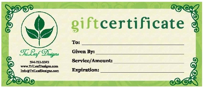 business gift certificates