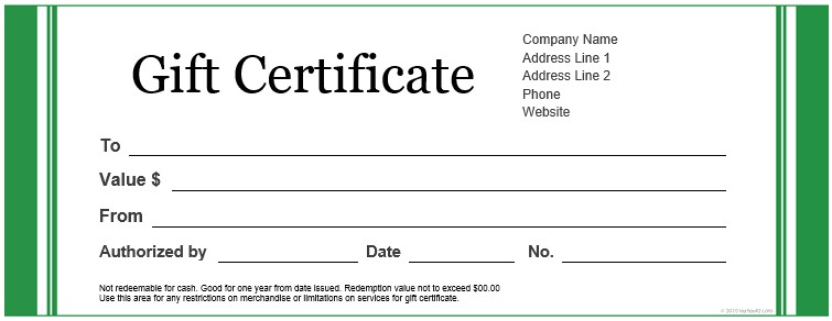 free gift certificate templates for microsoft word 1356659