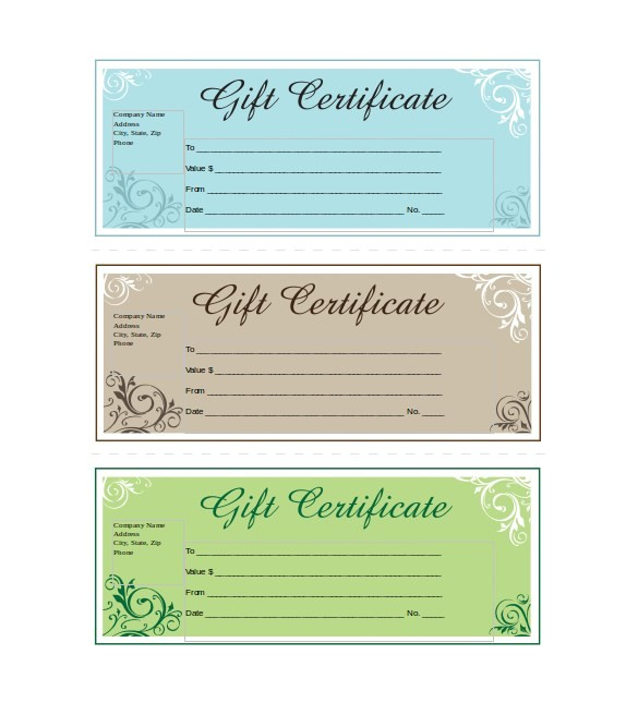 Free Business Gift Certificate Template with Logo Free Gift Certificate Template with Logo Colbro Co
