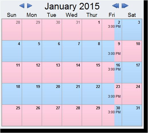 free printable custody calendar