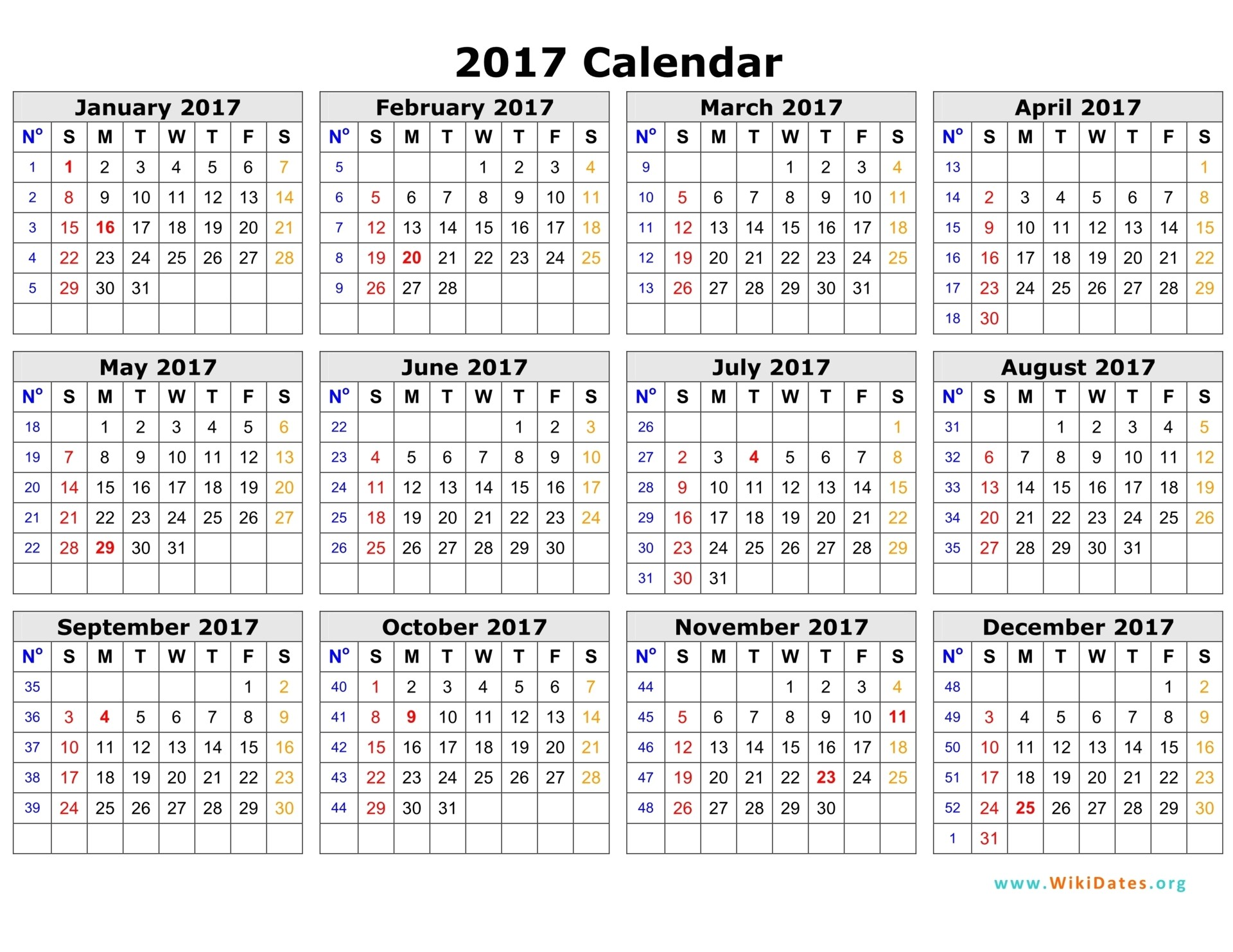 Free Photo Calendar Template 2017 2017 Calendar Template Monthly Calendar 2017