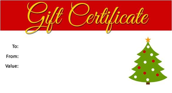 Free Printable Christmas Gift Certificate Template Word Christmas Gift Certificate Template 16 Word Pdf