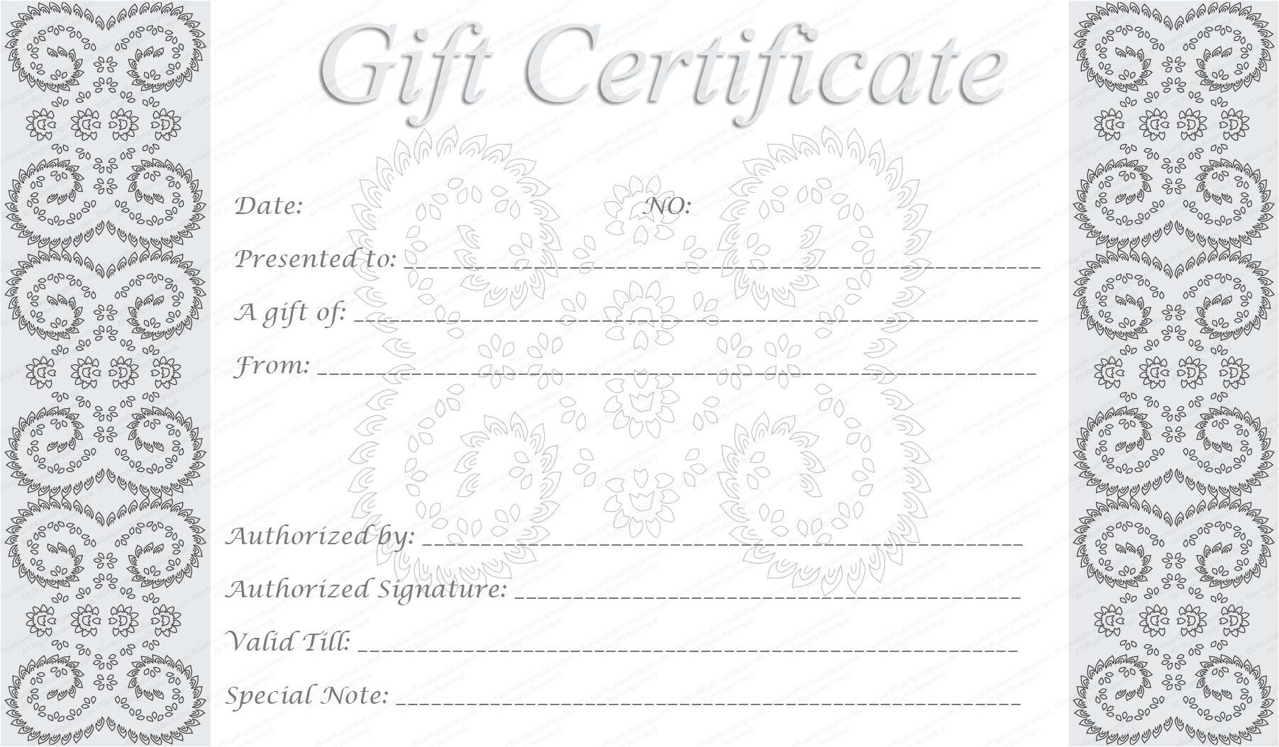 post free editable printable gift certificates 138710