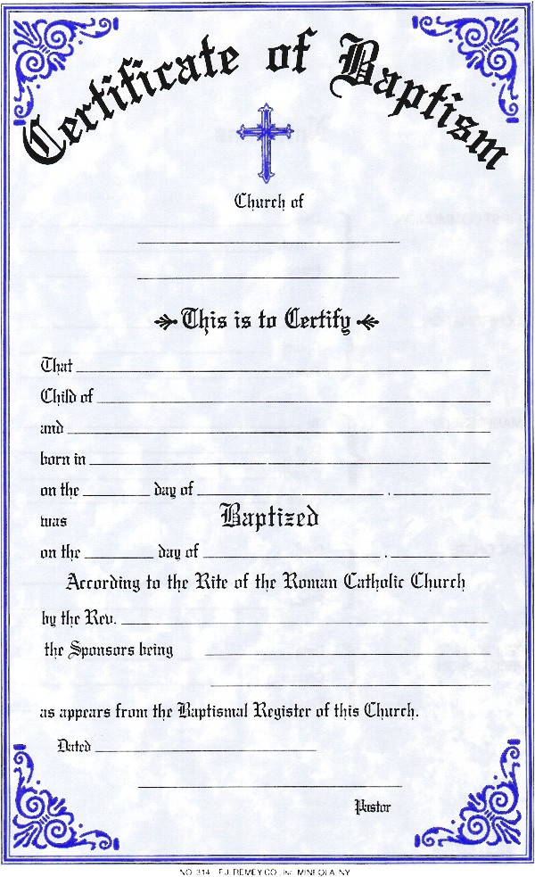 Free Water Baptism Certificate Template Water Baptism Certificate Template