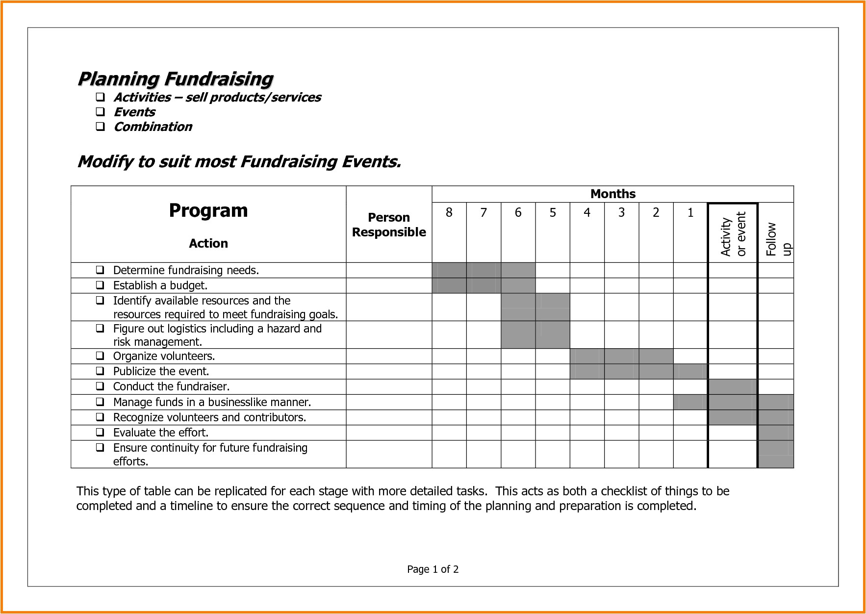 Fundraising Calendar Template Fundraising event Template Choice Image Template Design