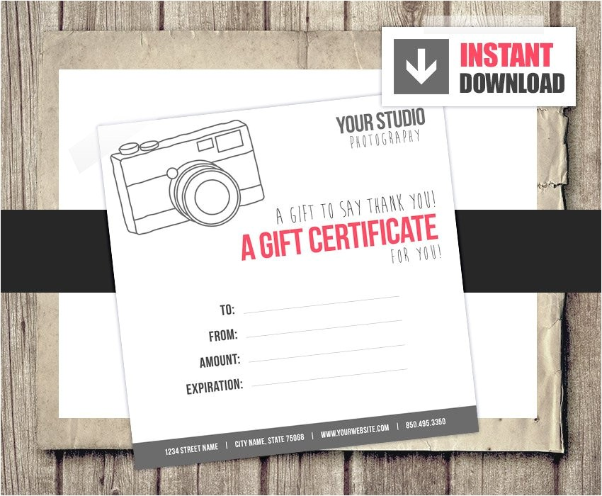 gift card gift certificate template for