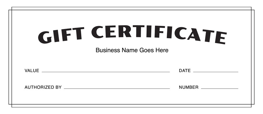 Gift Certificate Template Free Download Gift Certificate Templates Download Free Gift