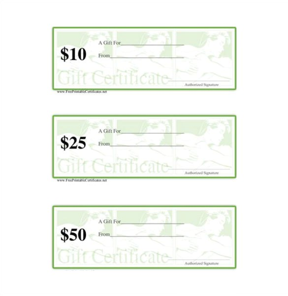 Gift Certificate Template Word Free Download Massage Gift Certificate Template 5 Free Word Pdf