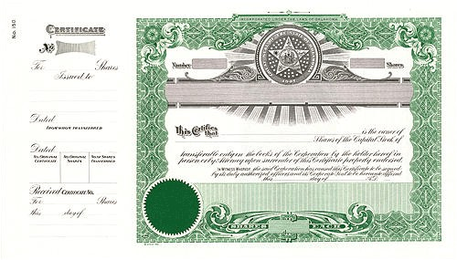 Goes Stock Certificate Template Stock Certificate Template Texas Images Certificate
