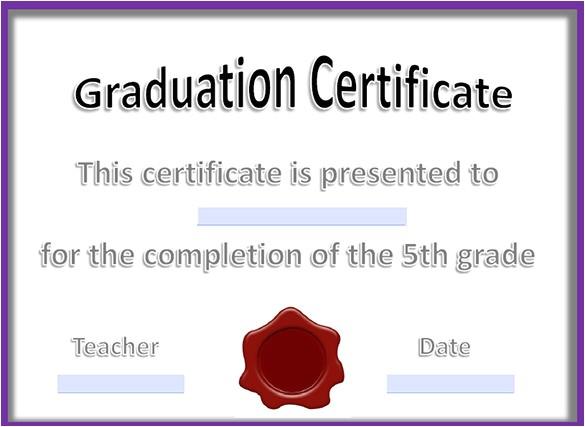 graduation certificate template