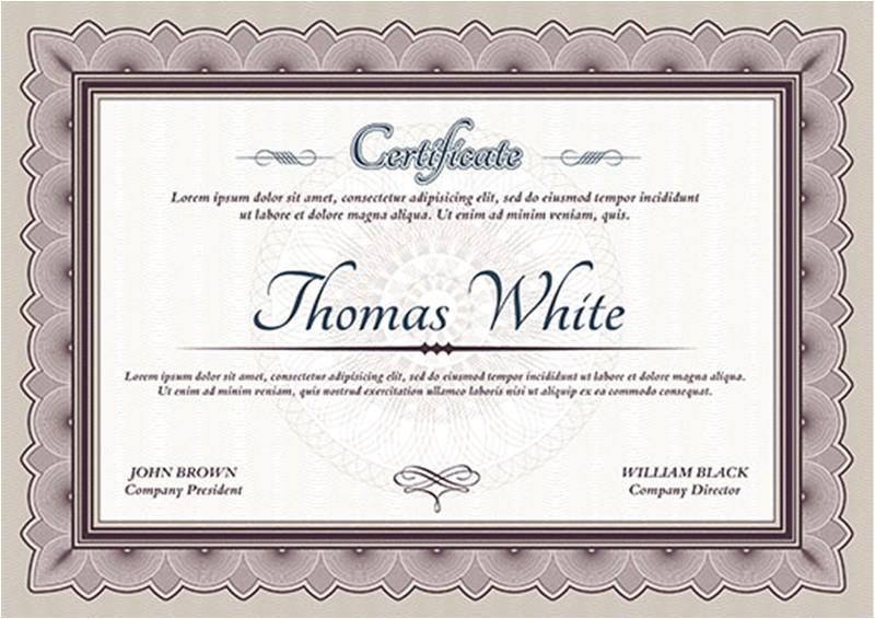 Graduation Certificate Template Graduation Certificate Templates Creativetemplate