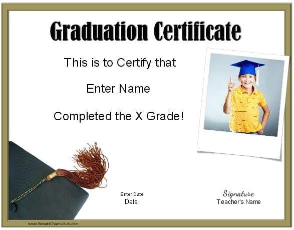 school graduation certificates
