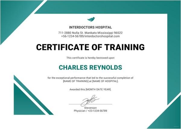 Hazmat Training Certificate Template 27 Training Certificate Templates Doc Psd Ai