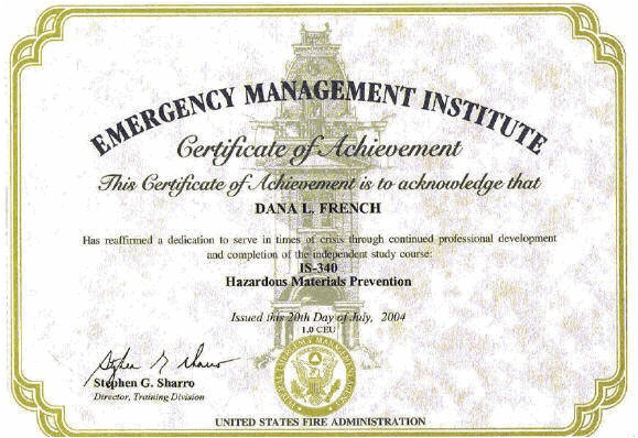 Hazmat Training Certificate Template Certifications Mt Xia Resume Of Dana French Business