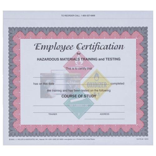 hazmat made easier for all employees employee training certificate