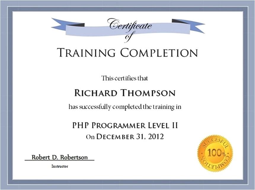 hazmat training certificate template