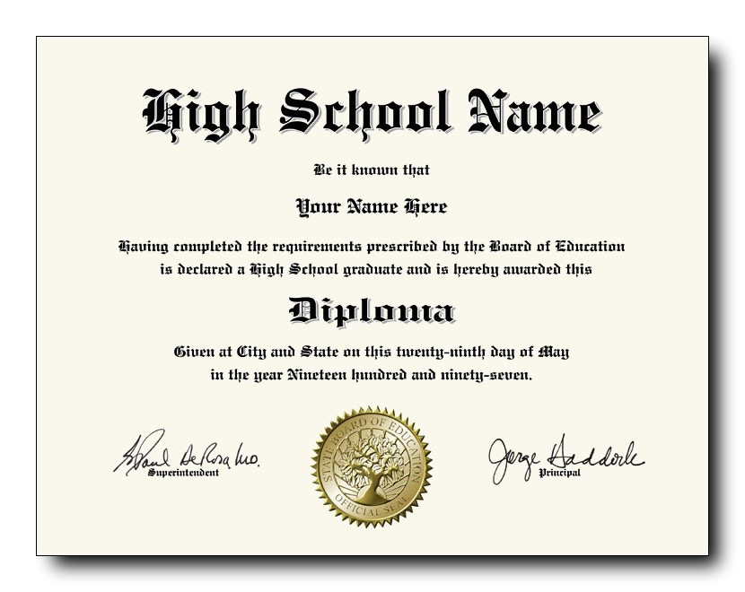 High School Graduation Certificate Template Fake High School Diplomas and Transcripts as Low as 49 Each