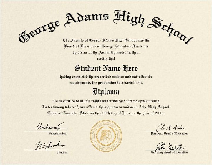 High School Graduation Certificate Template High School Diploma Template Printable Certificate