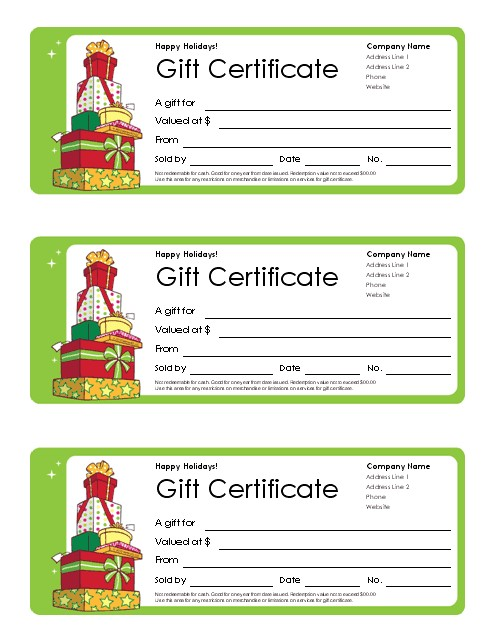 Holiday Gift Certificate Template Free Download Free Gift Certificate Template and Tracking Log