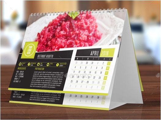 indesign 2016 desktop calendar template